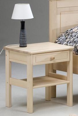 Sonaatti yöpöytä, luonnonvärinen koivu